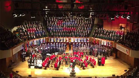 monmouth male voice choir in the Royal Albert Hall