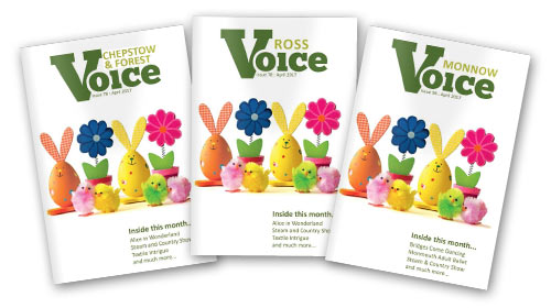 Covers for the Voice magazines, April 2017