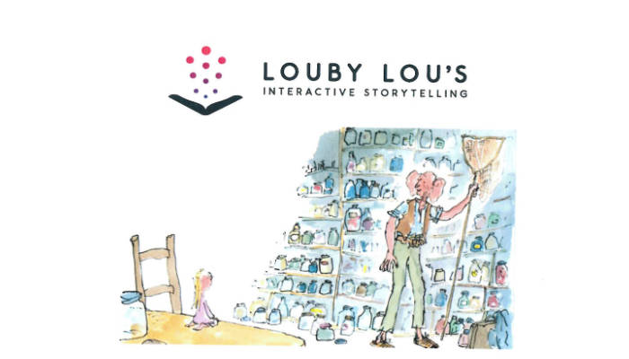 poster for louby lou storytelling