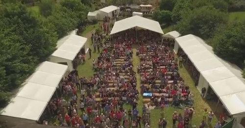 Linton Festival Overhead shot