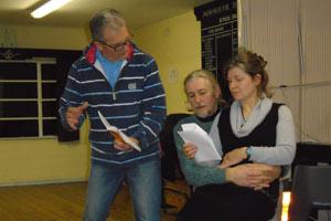 "Monmouth Off Centre Theatre rehearse ""Plaza Suite"""