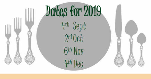 dates for Bridges lunch club 2019