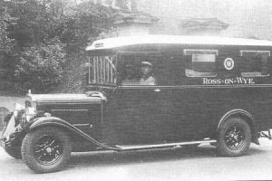 Ross-on-Wyes first Motorised Ambulance