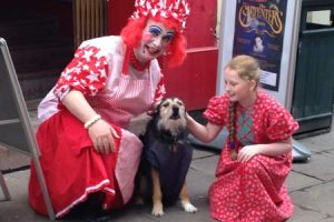 pantomime characters with dog