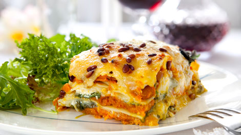 squash spinach lasagne