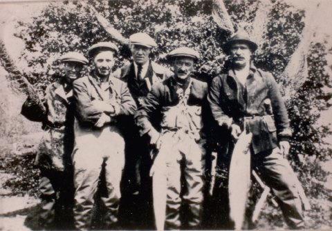 1920s fishermen by Severn