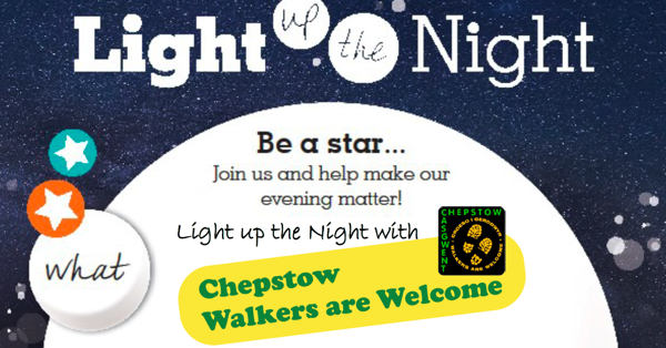 "Poster for Night Walk saying ""Light up the Night"""
