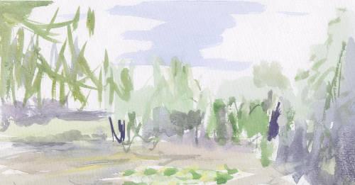 watercolour of Clytha