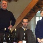 Tom Innes testing wines in France