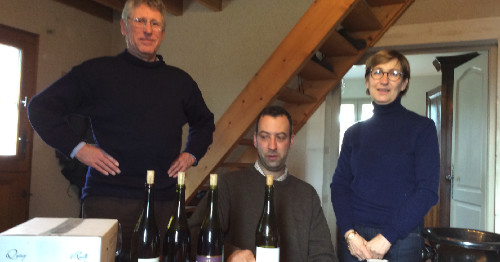Tom Innes testing wines in France