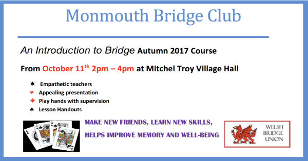 Monmouth Bridge Club flier