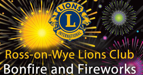 poster for Ross Lions bonfire and fireworks 2017