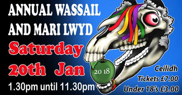 Poster for Chepstow Wassail and Mari Lwyd