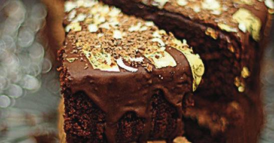 gold choc cake