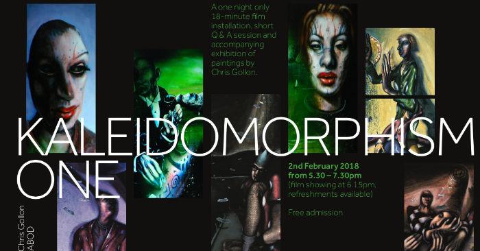 poster for Kaleidomorphism film installation