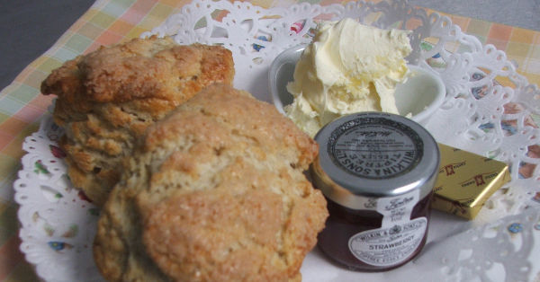 scones, clotted cream and jam