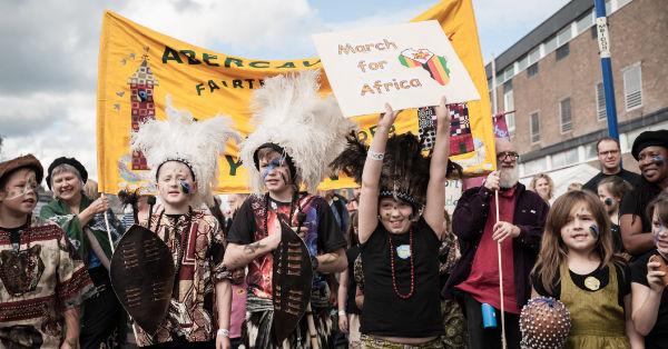 Love Zimbabwe Kids Parade. Abergavenny Food Festival 2017.