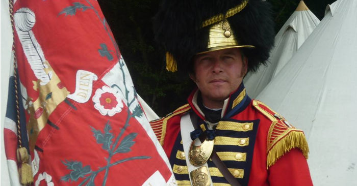 The regimental colours of the Royal Welch