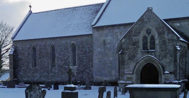 Caerwent church in the snow