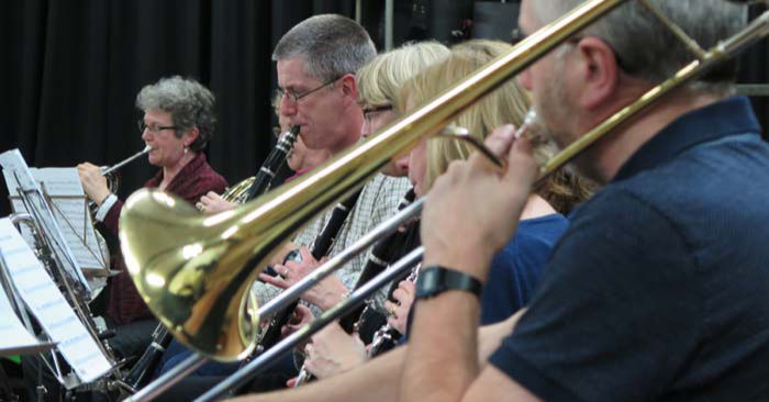 Monmouth Orchestra trombones