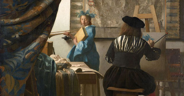 "Vermeer painting ""artist in his studio"""