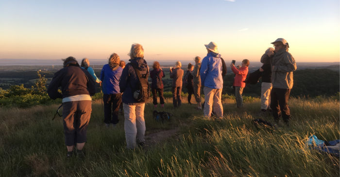 walkers on Gray Hill Summer solstice 2018