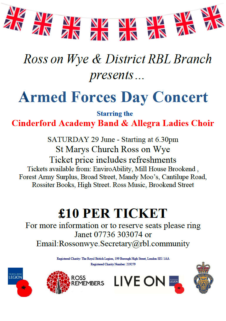 Poster for Ross Armed Forces Day