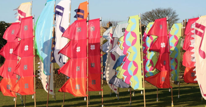 festival flags for Coleford festival