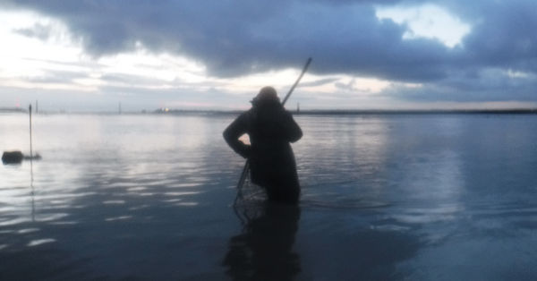 lave net fishing in the Severn Estuary